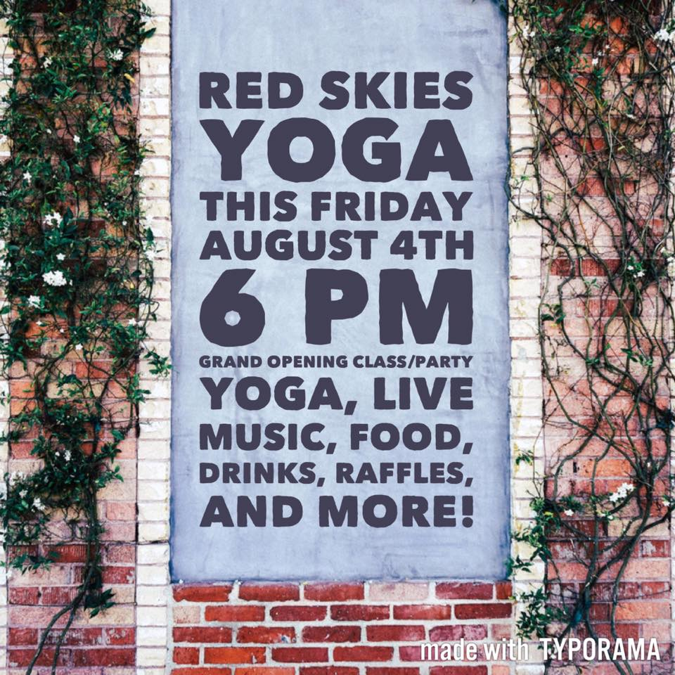 Jacksonville FL Yoga Studio Grand Opening Party