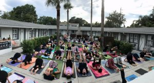 Yoga and Happy Hour at Hotel Palms